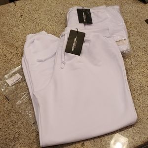 NWT...Pretty Little Thing White Ultimate Jogger!